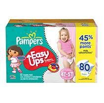 Pampers - Easy Ups, Girls, Size 6 (37+ lbs.), 80 ct.