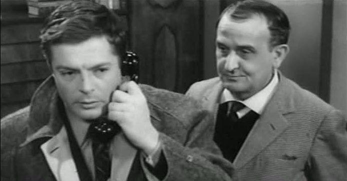 """Marcello Mastroianni e Salvo Randone in """"L'assassino"""" (dir- Elio Petri)"""