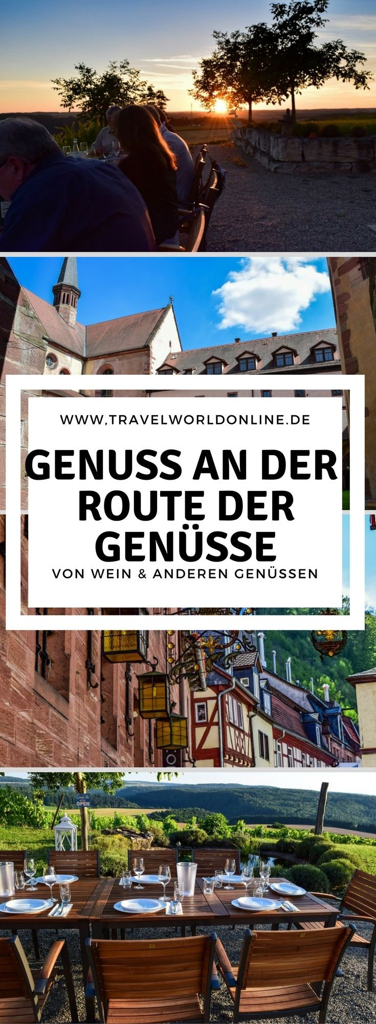 Wein und andere Genüsse erwarten den Gast auf einer Tour entlang der Route der Genüsse.