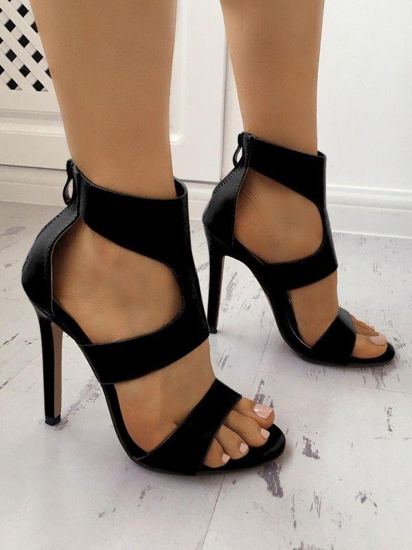 03ed4e31f39 ... High Heels. Fashion Hollow Out Open Toe Pump