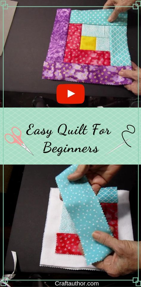 This is an easy quilting, how to project for beginners. This quilt tutorial show…