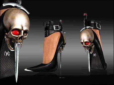 Ouch...: Killers Heels, Vampires, Rocks On, Girls Generation, Awesome Shoes, Sexy Girls, Skull Heels, Shoes Porn, Happy Halloween