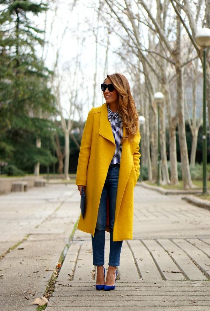 Where Can I Find This Coat Gunesblog Com Bestfashion Yellow Coat Outfit Mustard Coat Winter Coat Outfits