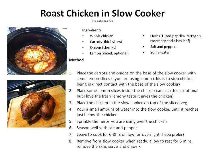 Roast Chicken in Slow Cooker :) | SLIMMING WORLD THINGS ...