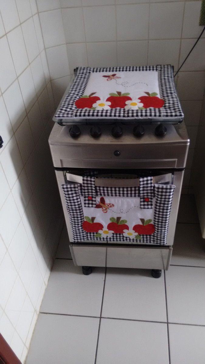 Kit fogão maçãs