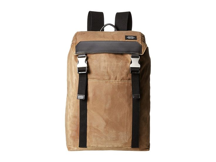 JACK SPADE JACK SPADE - WAXWEAR ARMY BACKPACK (KHAKI) BACKPACK BAGS. #jackspade #bags #lining #polyester #backpacks #cotton #