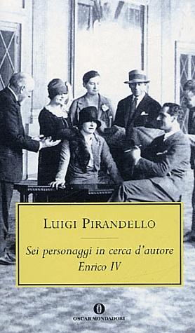 """""""Sei personaggio in cerca d'autore"""" Luigi Pirandello  Il mio preferito in assoluto di Pirandello. L'ho trovato geniale, riflessivo e fuori dalla realtà. L'ho letto e riletto e per ogni frase, tra l'altro scritta ad arte, scorrevole e simpatica, c'è un'altra frase che bisogna sforzarsi di leggere tra le righe. Un allenamento per il cervello che va fuori di sè rompendo i canoni di quello che ci si attende. Stupendo!"""