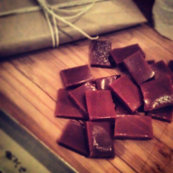 Homemade Christmas candy. #chocolate #caramel