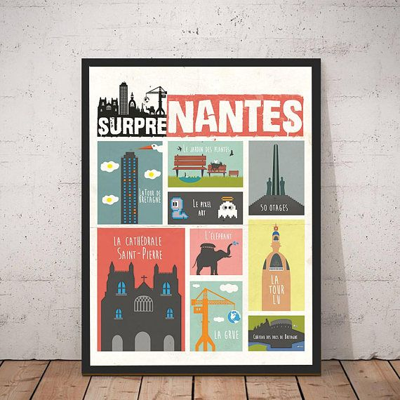 Rupture De Stock En Cours De Reapprovisionnement Affiche Etsy Nantes Poster Frame Art