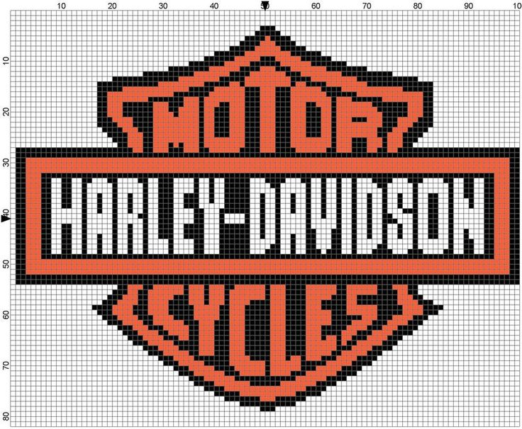 Free Harley Davidson Crochet Afghan Pattern : 1000+ images about holly on Pinterest Perler Bead ...