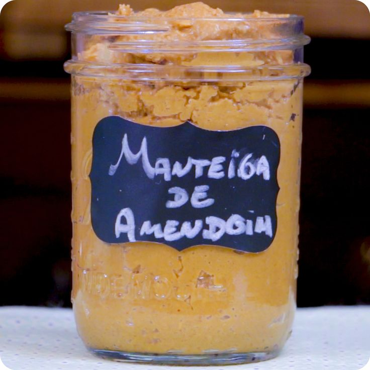 Manteiga de amendoim caseira | Vídeos e Receitas de Sobremesas