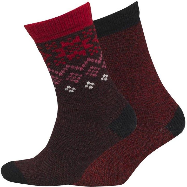 Converse Damen 2 Pack Winter Crew Socken Mehrfarbig