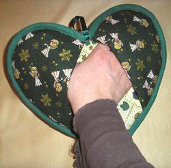szív alakú edényfogó kesztyű elkészítése
