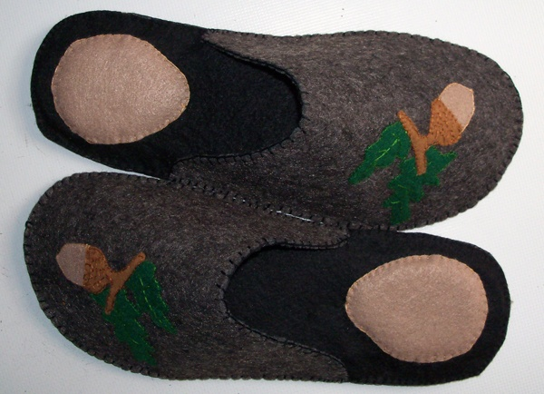 """Felt slippers for man hand sewn - Made in Italy - """"$32"""""""