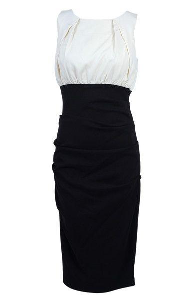 Nicole Miller Collection Sleeveless Colour Block Dress SZ4 #LoveThatCloset #Designer #Consignment #Sale #Dress #NicoleMiller
