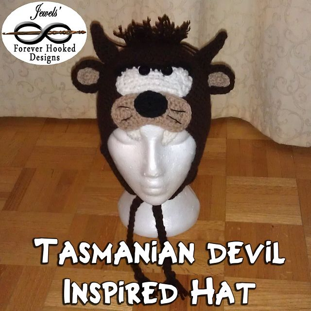 Ravelry: Tazmanian Devil Inspired Hat pattern by Jewels' Forever Hooked Designs