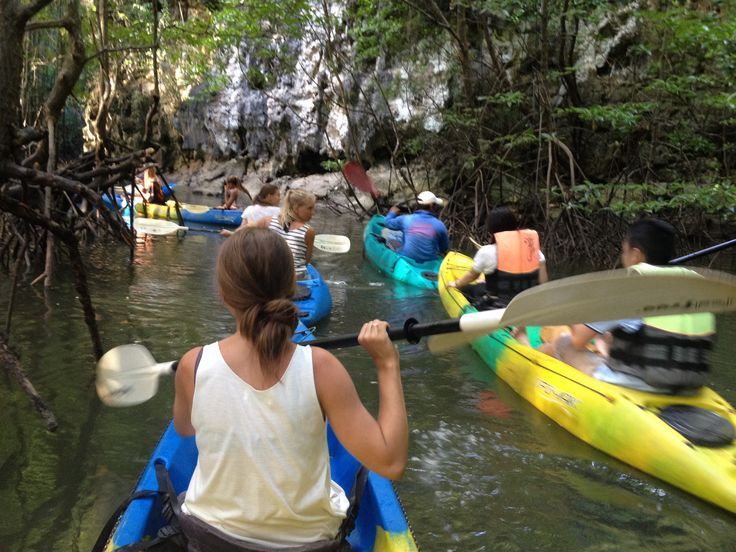Whilst kayaking in Krabi we almost got attacked by an army of monkeys, haha