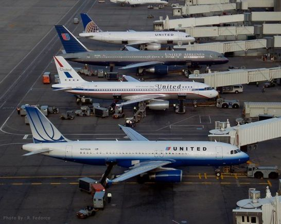 Some of the liveries of United.