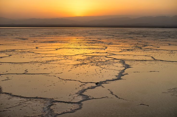Salt flats in the Danakil Depression, one of the hottest & lowest places on Earth #travel #Africa #photooftheday