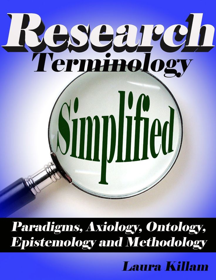 """Research terminology simplified: Paradigms, axiology, ontology, epistemology and methodology"" by Laura Killam 2013  https://www.youtube.com/playlist?list=PL2qcTIIqLo7VaWtb-AYGh0NFexusoQjgq"