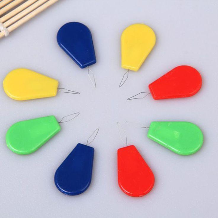 10 unids Enhebrador de Aguja De Coser Máquina Enhebrador de Aguja Con Mango De Plástico de Colores Surtidos Herramienta Útil