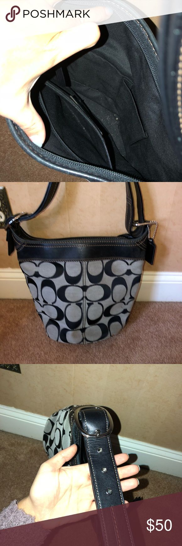 Black coach pocketbook Great condition  Worn with care Bags Shoulder Bags