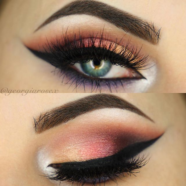 Bold and beautiful eye makeup look GEORGIA ROSE DEVINE @georgiarosex Sunset Smokey Eye...Instagram photo | Websta (Webstagram)