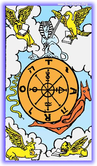 Major Arcana - Wheel Of Fortune | SunSigns.Org
