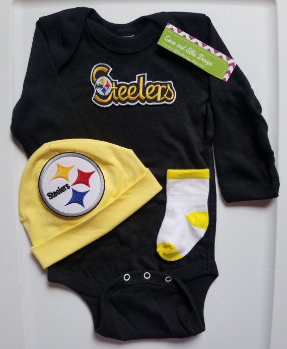 baef8fc9e Pittsburgh Steelers baby outfit-Steelers baby boy shower gift-Steelers  newborn-Pittsburgh Steelers take home/baby steeler/newborn steelers