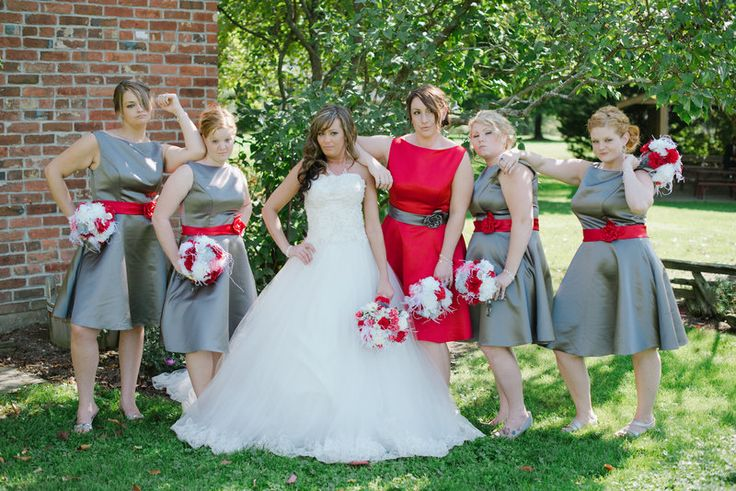 Wedding, OSU, ohio state, barn wedding, grey, scarolet, rachealandsteve  Photo By A PHOTO STORY BY MALLORY + JUSTIN