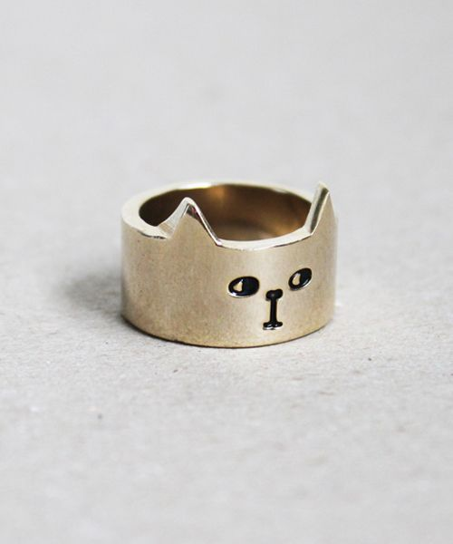 Gold Cat Ring at Lazy Oaf