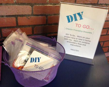 Easy friendship bracelet passive program #DIY #libraryprograms                                                                                                                                                     More