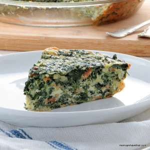 Adapted from Dr. Atkins's original recipe, this Spinach, Bacon & Onion Crustless Quiche is especially great for those following the Atkins Induction phase.
