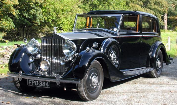 HJ Mulliner Rolls-Royce Phantom III Sedanca De Ville 3DL34 1938