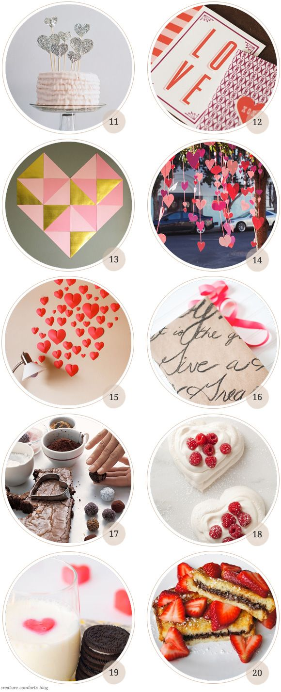 Pinterest Picks: 20 Valentine DIY Projects + Printables | Creature Comforts