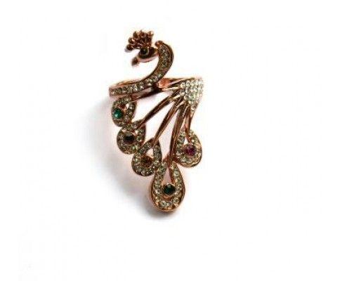 Koktejlový prsteň páv. Cocktail ring peacock. #womanology #jewelry #accessories #peacockjewelry