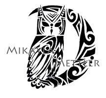 tribal owl tattoo design - Google Search