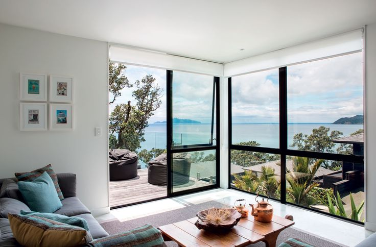 East-facing living areas enjoy views out over Bream Bay towards the Hen and Chickens Islands.