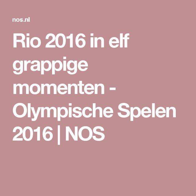 Rio 2016 in elf grappige momenten - Olympische Spelen 2016   NOS