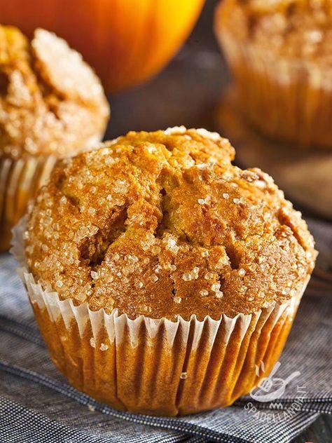 Muffins alla zucca e amaretti - Dessert / Dolcetti e crêpes #muffinallazucca #muffinagliamaretti #muffin