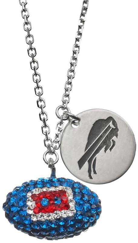 Kohl's Buffalo Bills Crystal Sterling Silver Team Logo & Football Charm Necklace