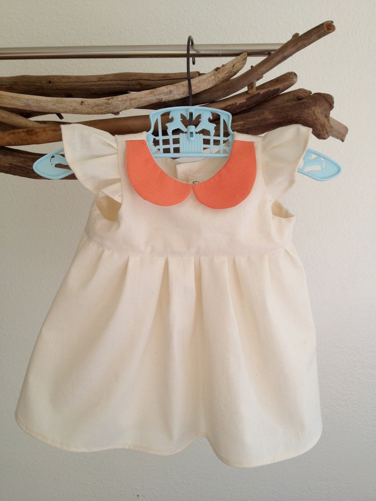 Kids Holiday Dress Organic clothes Baby Girl Peter pan collar. $34.99, via Etsy.
