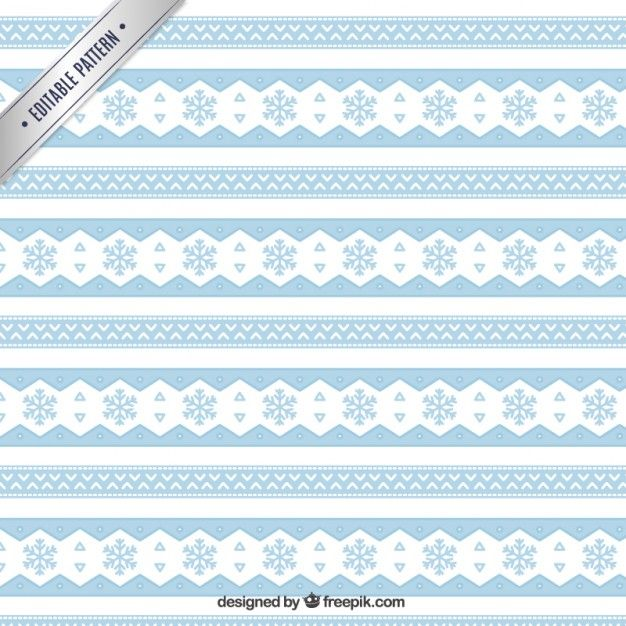 Ethnic snowflakes pattern Free Vector