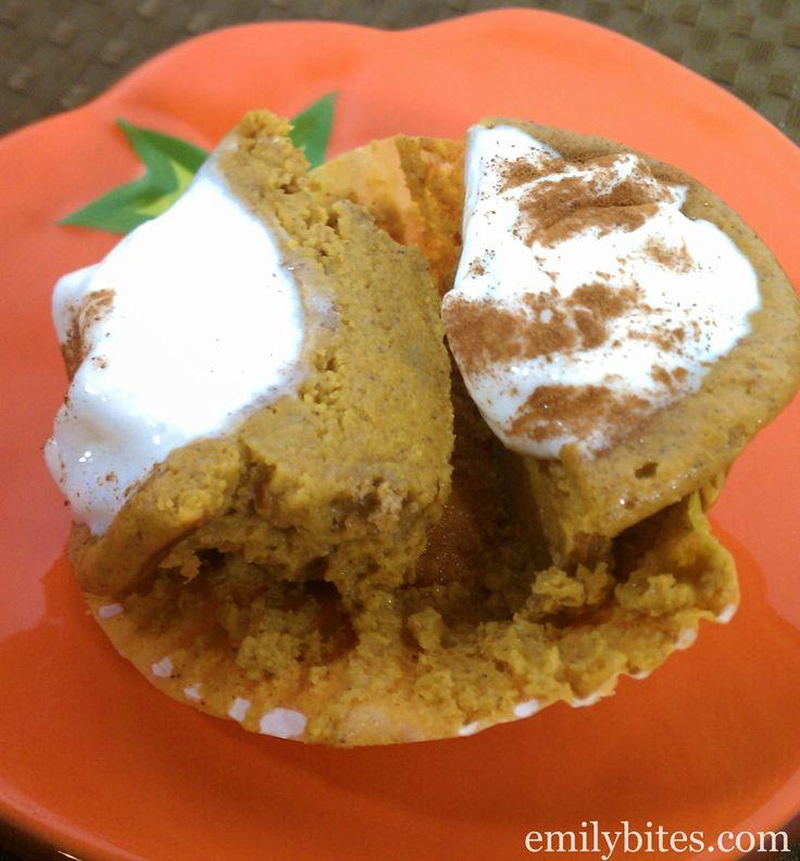 Emily Bites - Weight Watchers Friendly Recipes: Crustless Mini Pumpkin Pies 3 PTS +