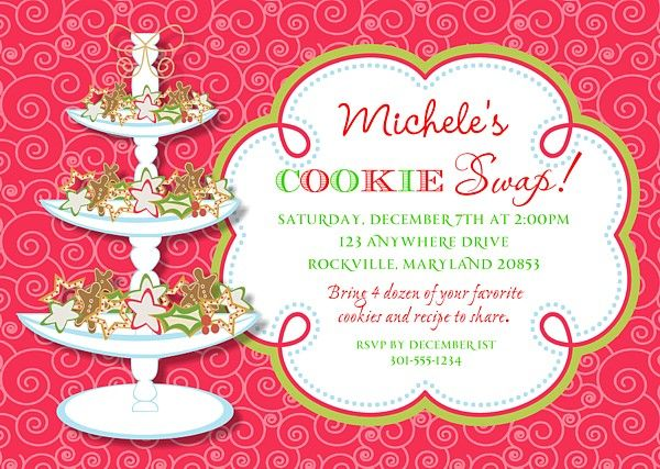 17 best images about Christmas Party Invitations – Christmas Cookie Party Invitations