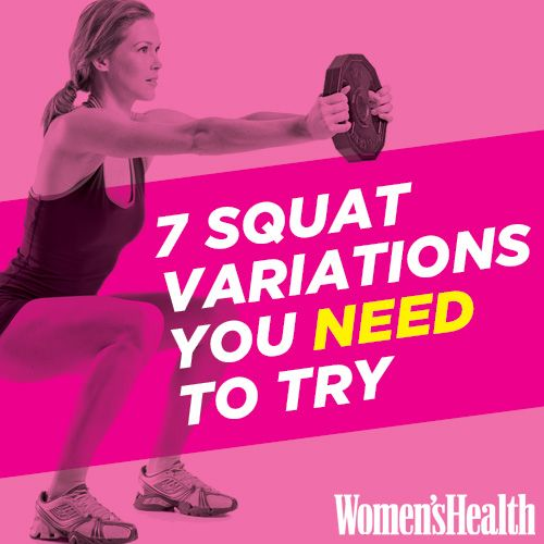 7 Squat Variations You NEED to Try http://www.womenshealthmag.com/fitness/types-of-squats