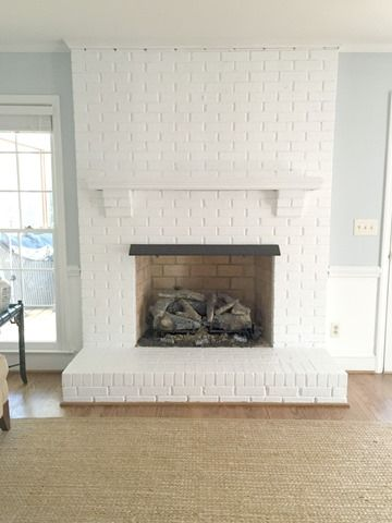 white painted brick fireplace | Emily A. Clark