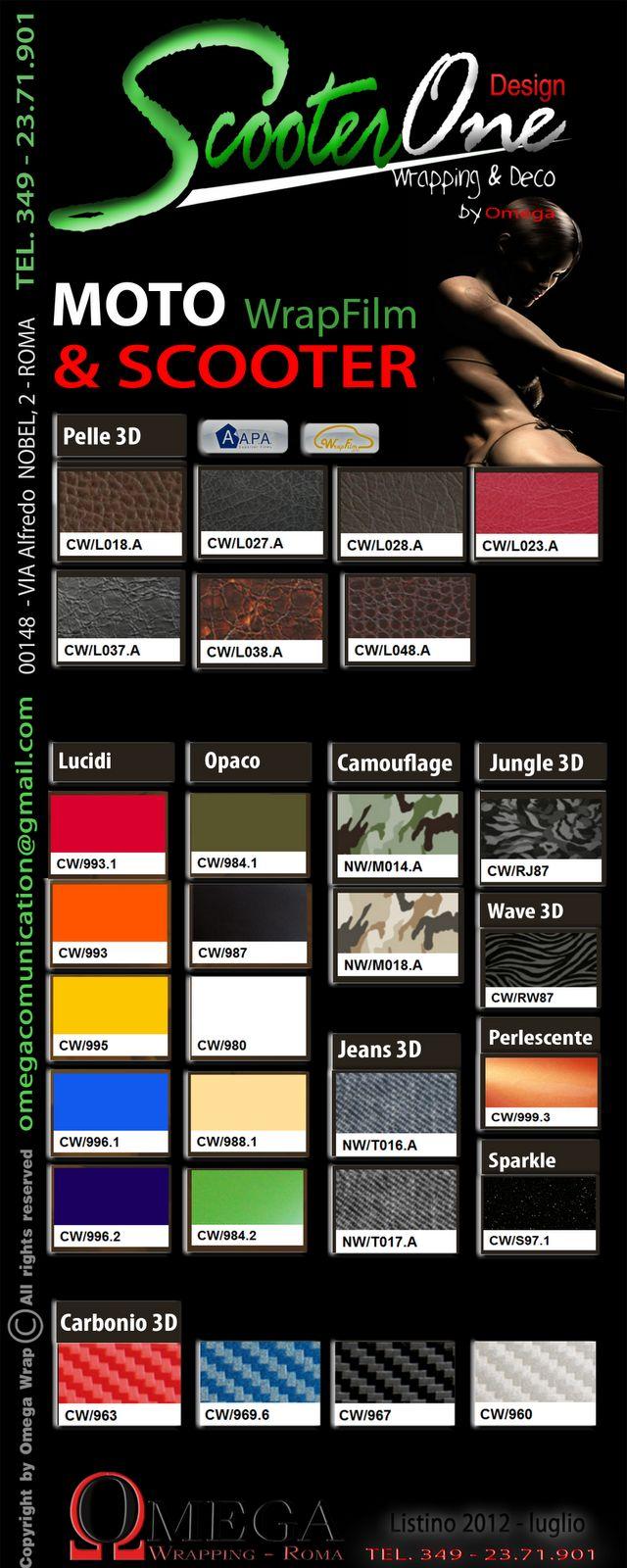 ScooterONE Wrapping and Design: Pellicole Wrapping... i nuovi colori per il 2012