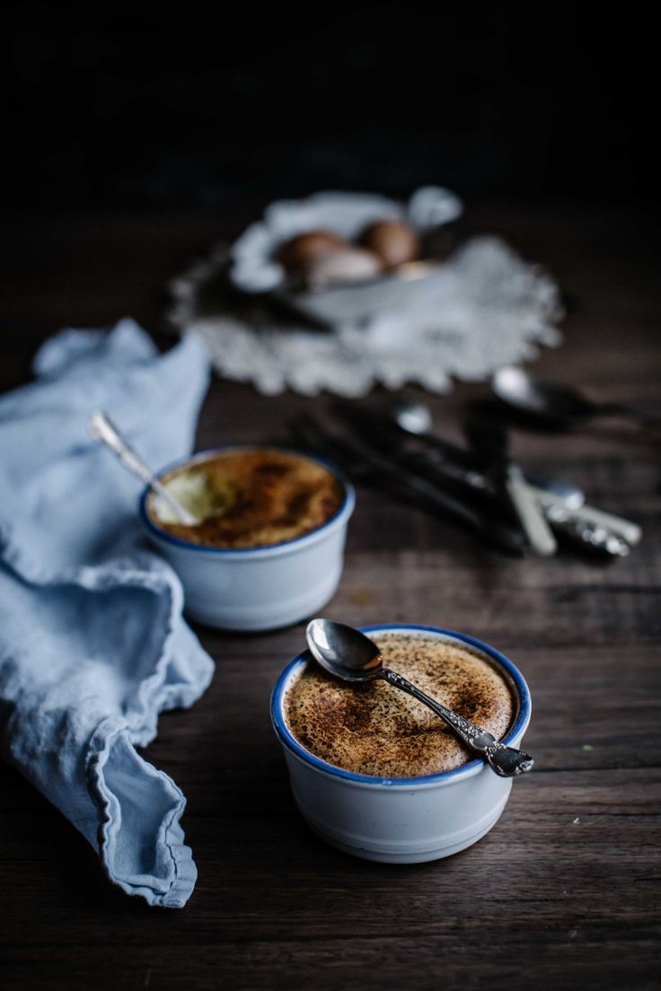 A stupidly easy and foolproof recipe for a wickedly creamy baked custard. Dark Food Photography | Moody | Chiaroscuro | Food Photography | Food Styling | Food Props | Anisa Sabet | The Macadames