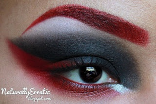 Naturally Erratic: A Makeup Blog: Red and Black Gothic Makeup